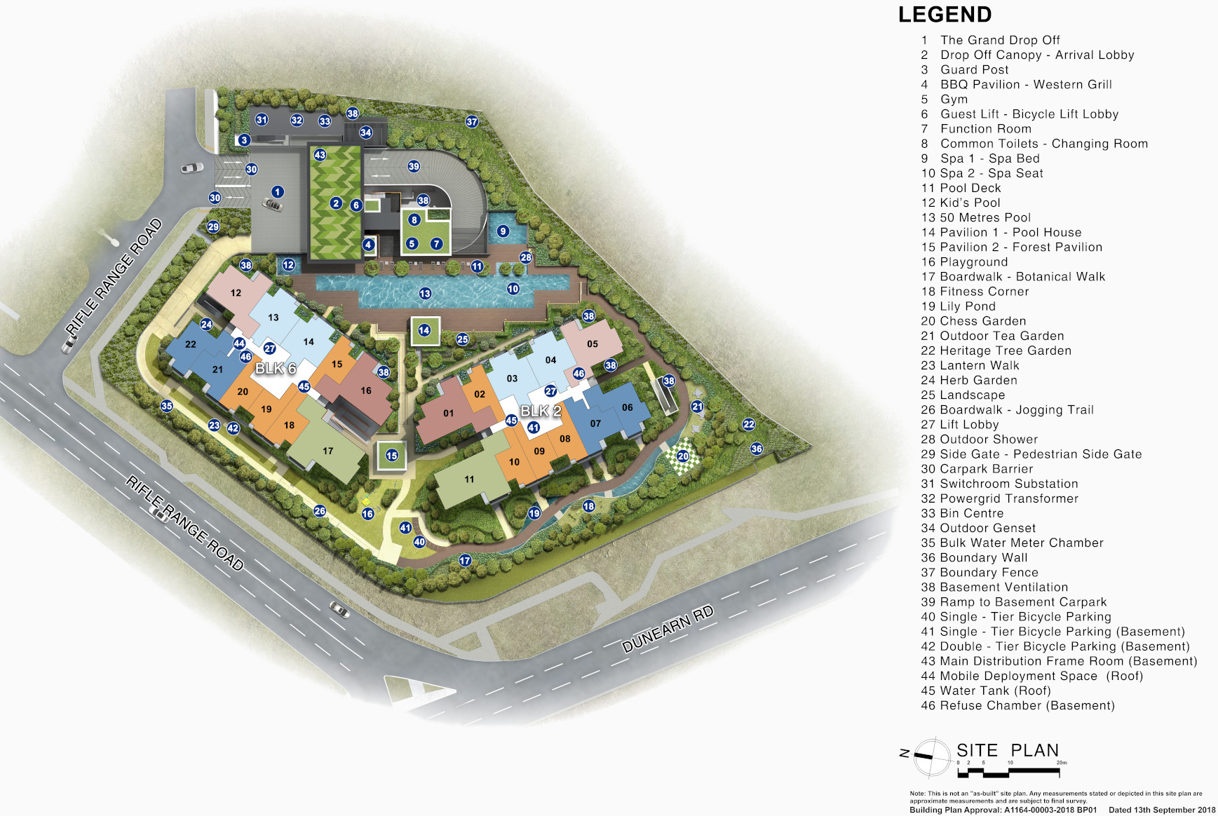 Mayfair Modern Site Plan Layout