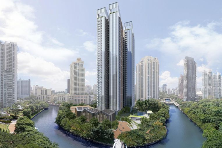 Artist's Impression . The Riviere Singapore River