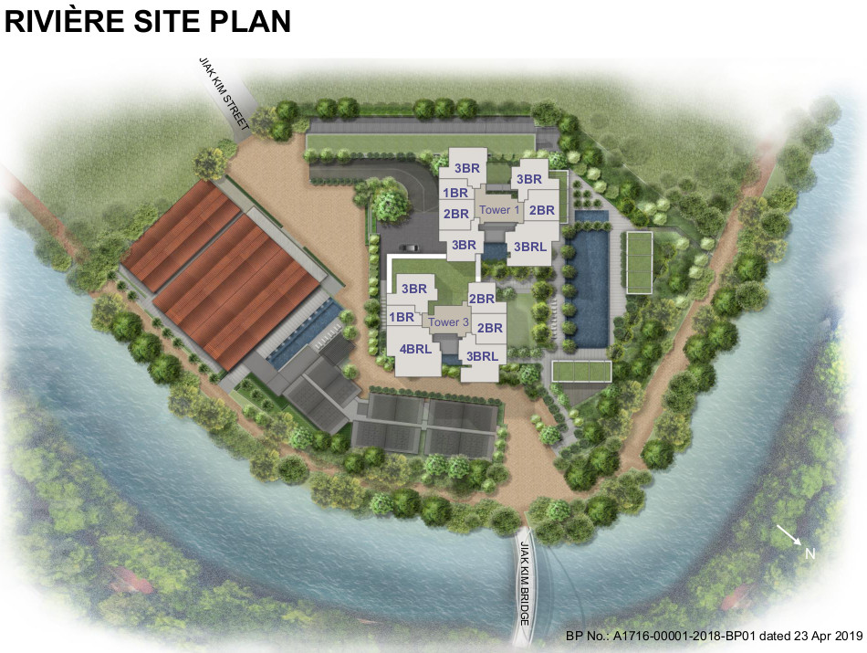 The Riviere Site Plan . Layout