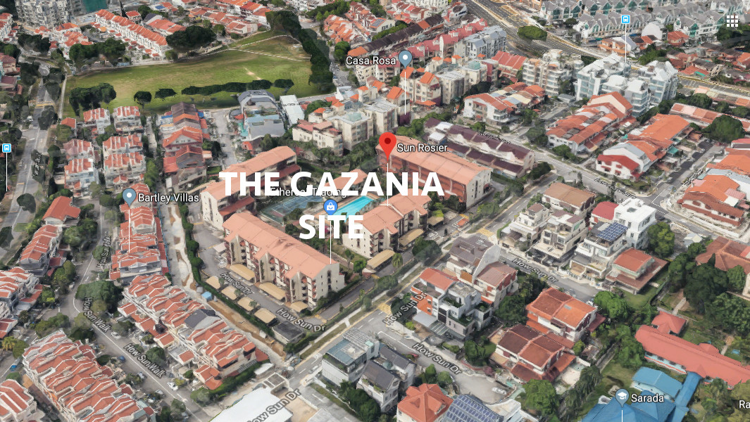 The Gazania Condo Site Location