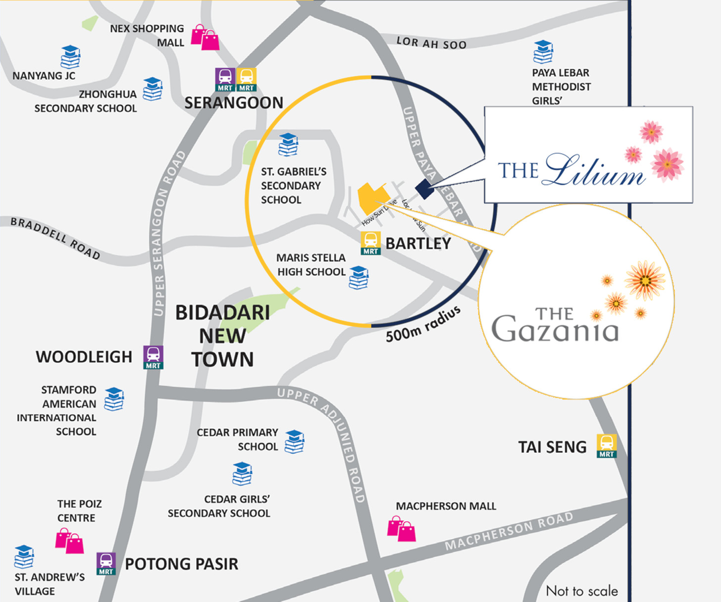 The Lilium Location Map