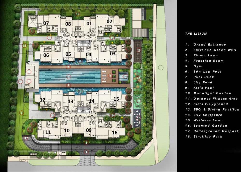 The Lilium Condo Block Layout Plan