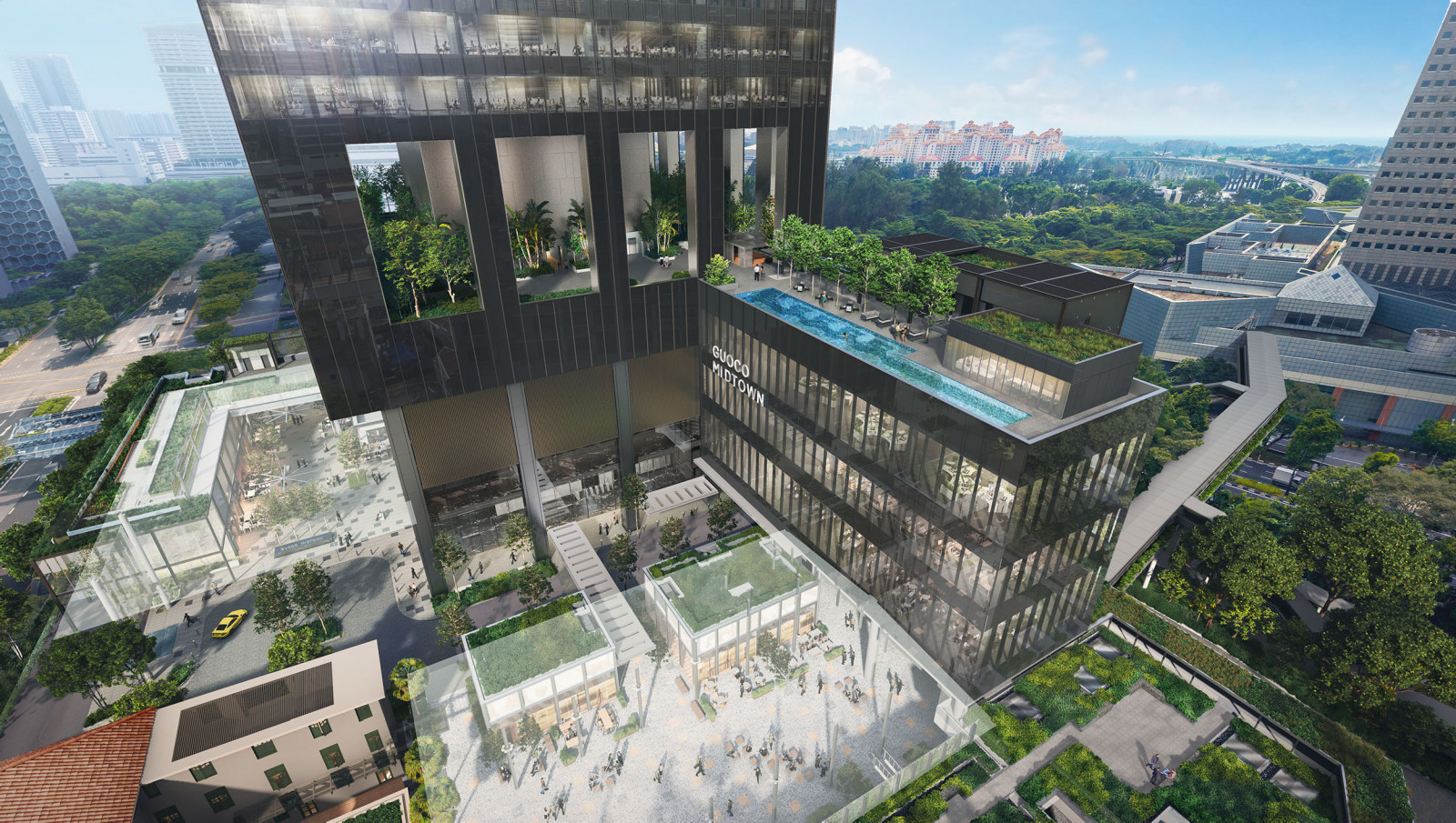 Artist's Impression . Guoco Midtown Bay @ Midtown Mixed Development