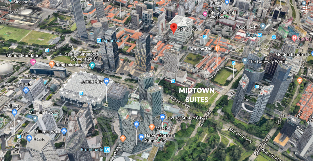 Midtown Bay Location . Site View