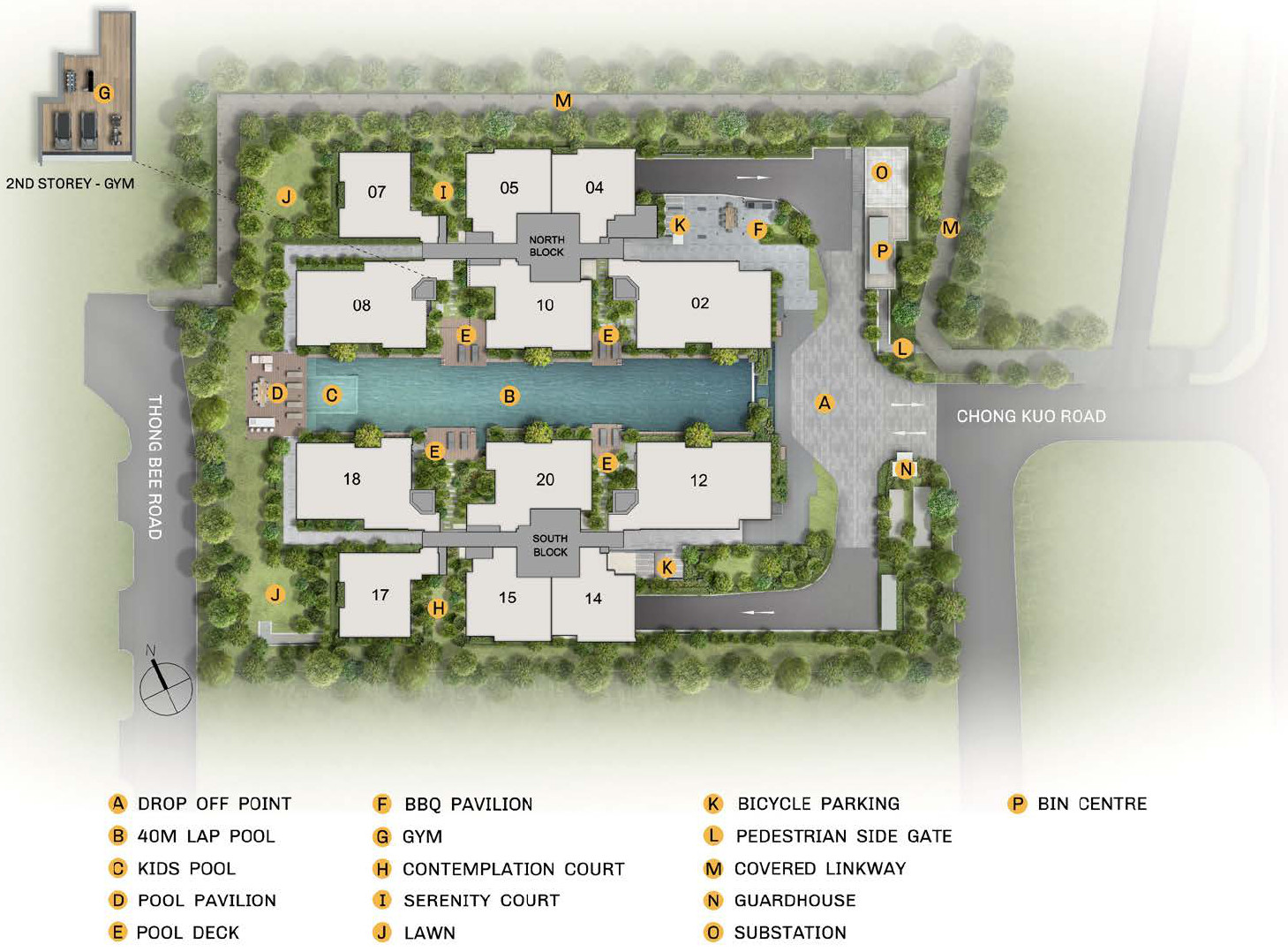 The Essence Condo Site Plan . 1st to 2nd Storey