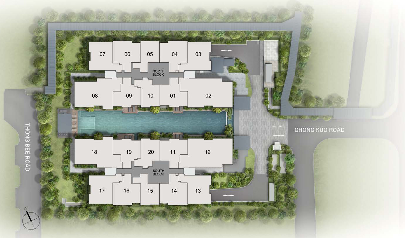 The Essence Site Plan Layout . 3rd to 5th Storey
