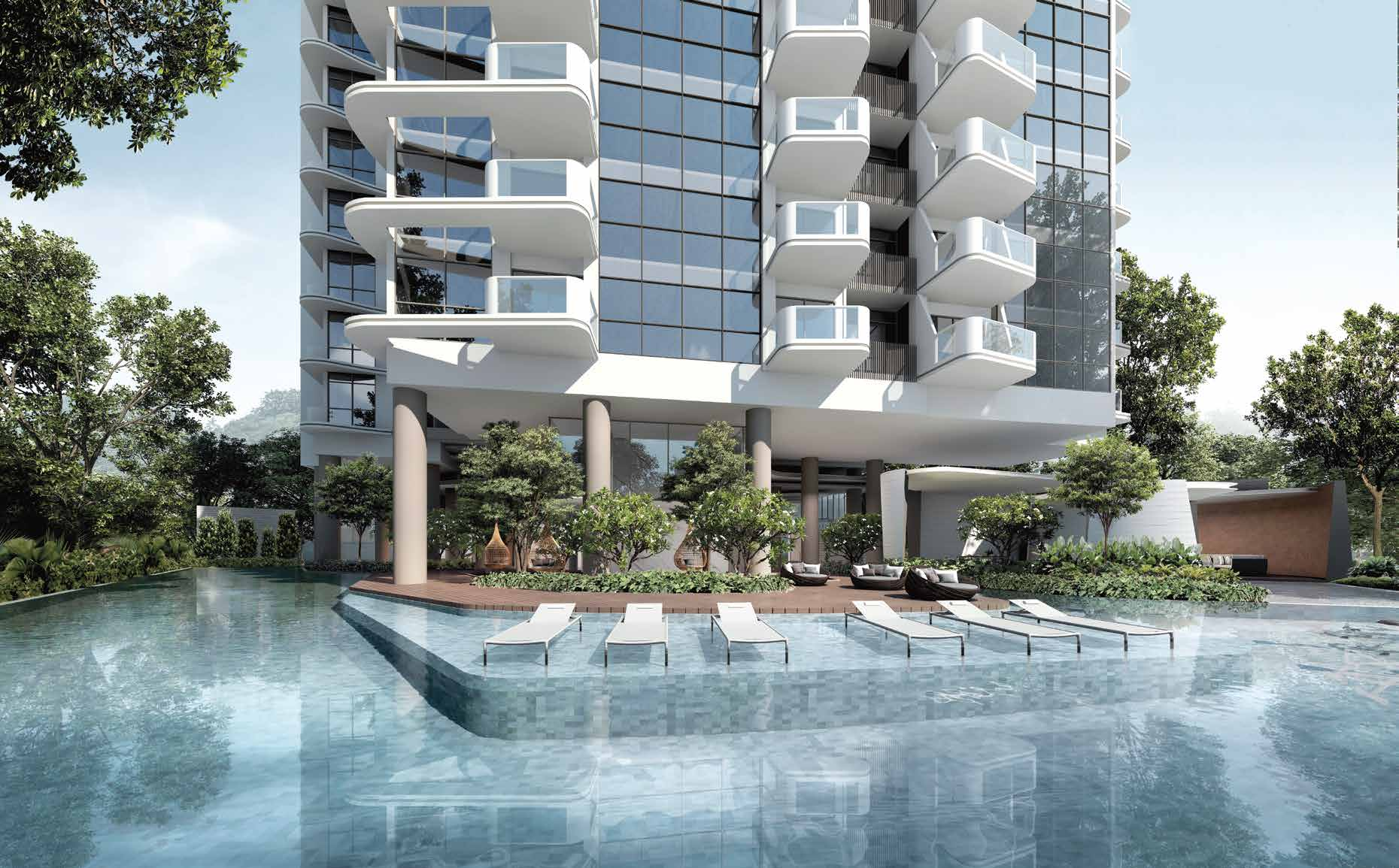 Artist's Impression . The Condominium Pool & Aqua Deck