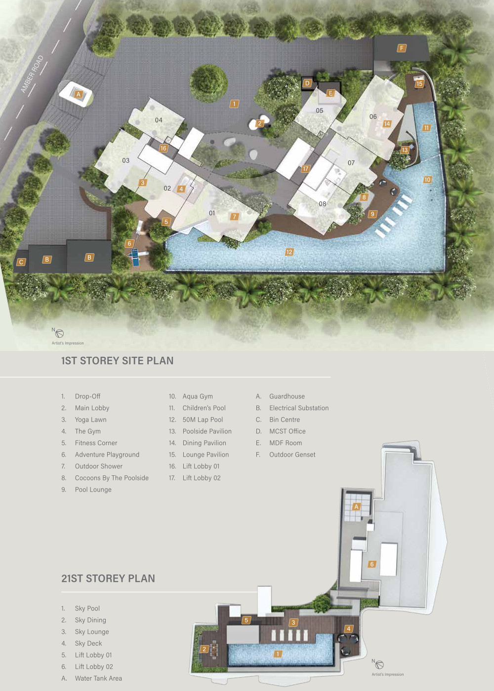 Coastline Residence Site Plan Layout & Facilities