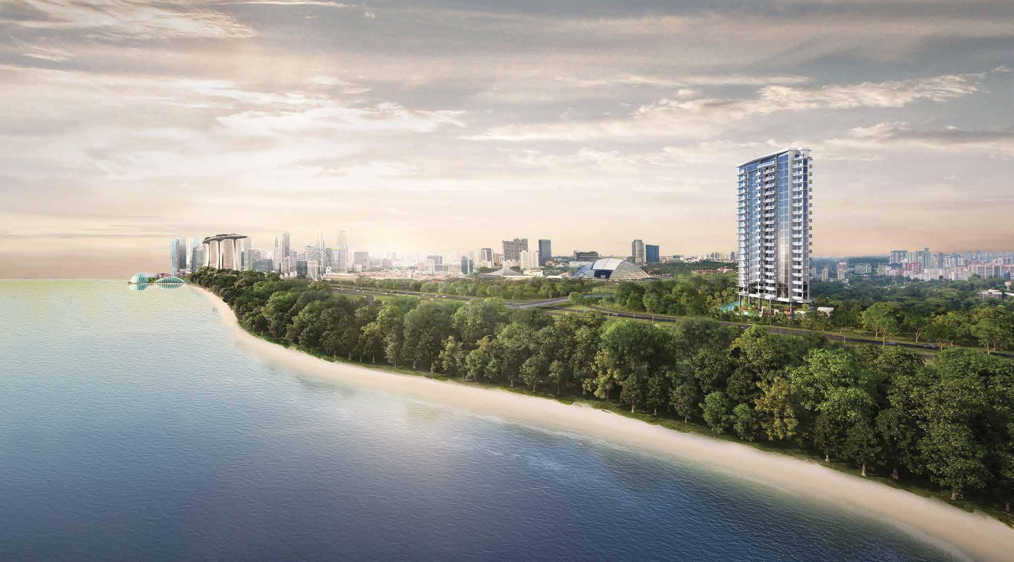 Artist's Impression . Coastline Residences at East Coast Singapore