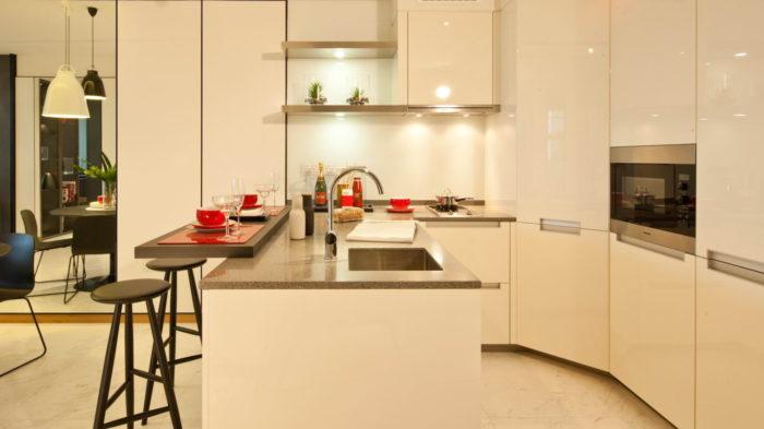 Marina One Condo Showflat 2 Bedroom Kitchen