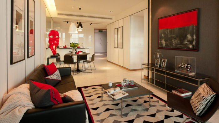 Marina One Condo Showflat 2 Bedroom Living Dining