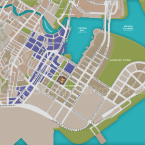 Marina One Residences . Parks Map