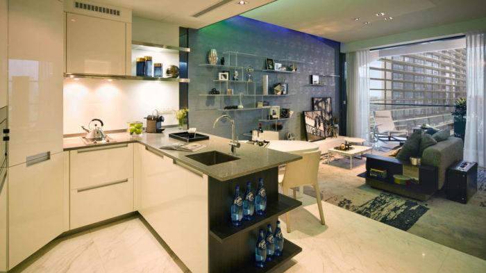 Marina One Singapore Showflat One Bedroom Kitchen Living