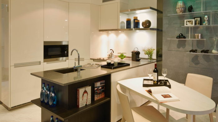 Marina One Singapore Showflat One Bedroom Kitchenette