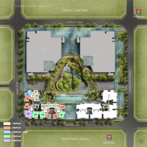 Marina One Site Plan Layout Coloured