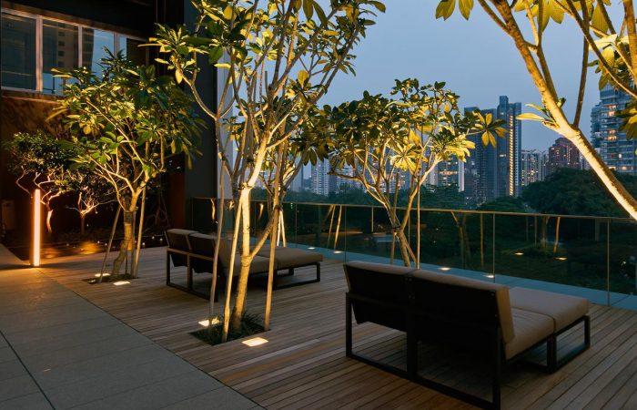 21 Angullia Park Showflat . Sky Terrace