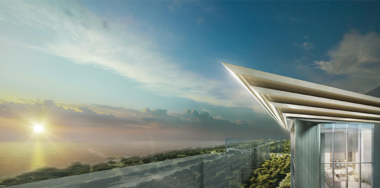Artist's Impression . Amber Park Penthouse View