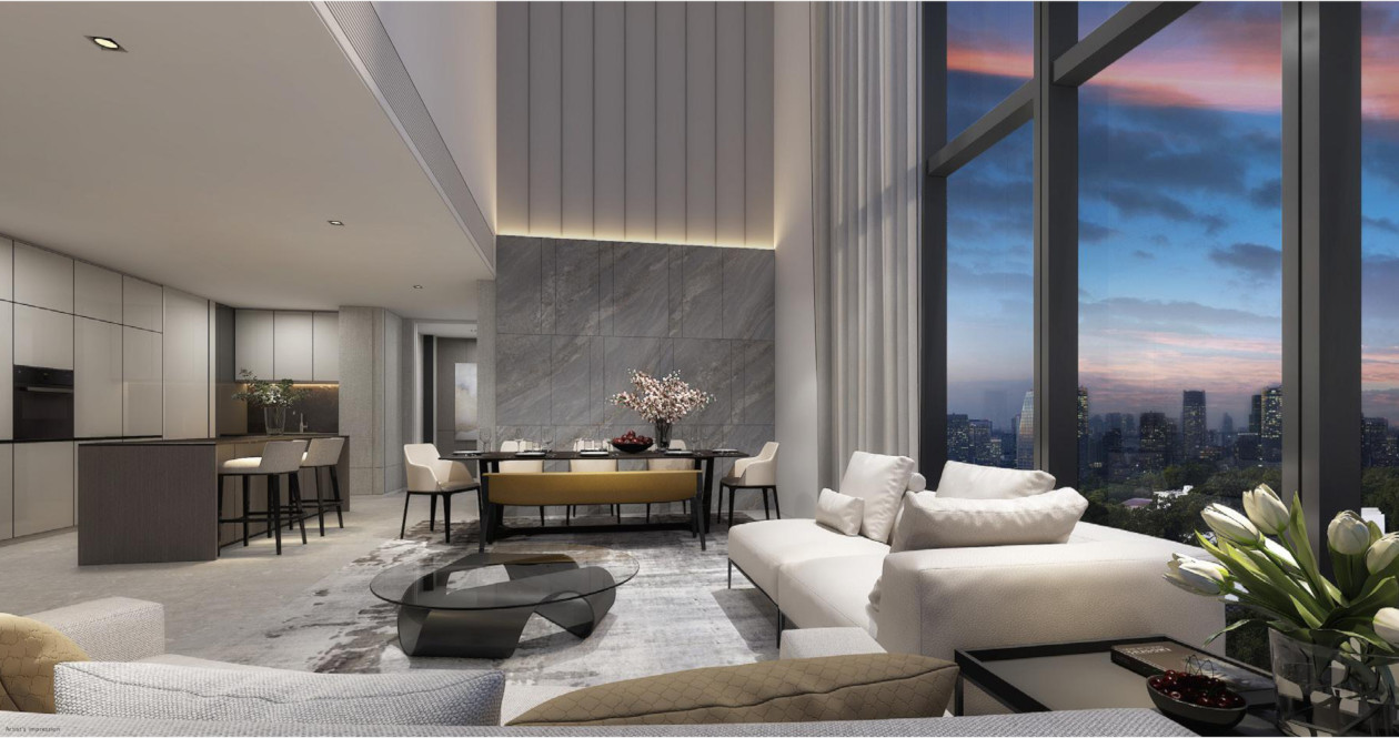 Artist's Impression . Amber Park Showflat . Living Dining