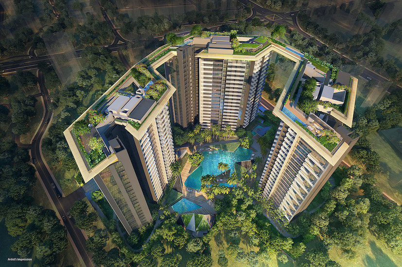 Amber Park Singapore . Aerial View