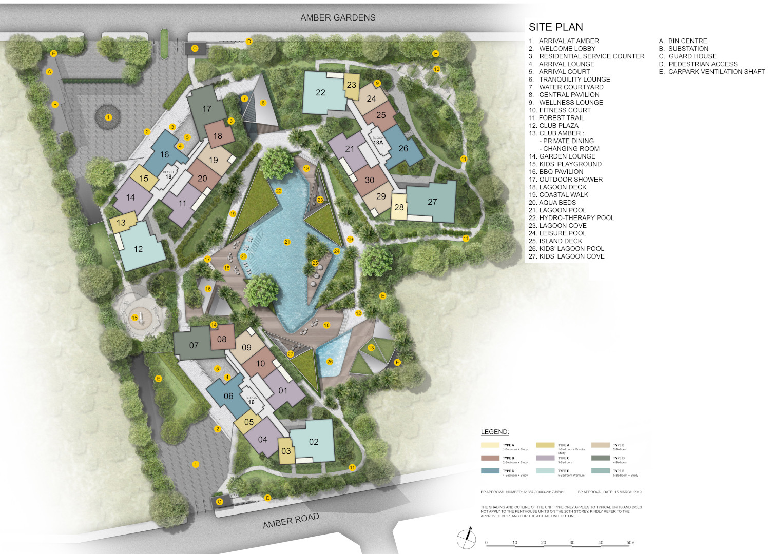 The Amber Park Site Plan . Level 1