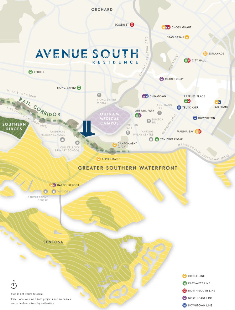 Avenue South Residences Map . Location Connectivity