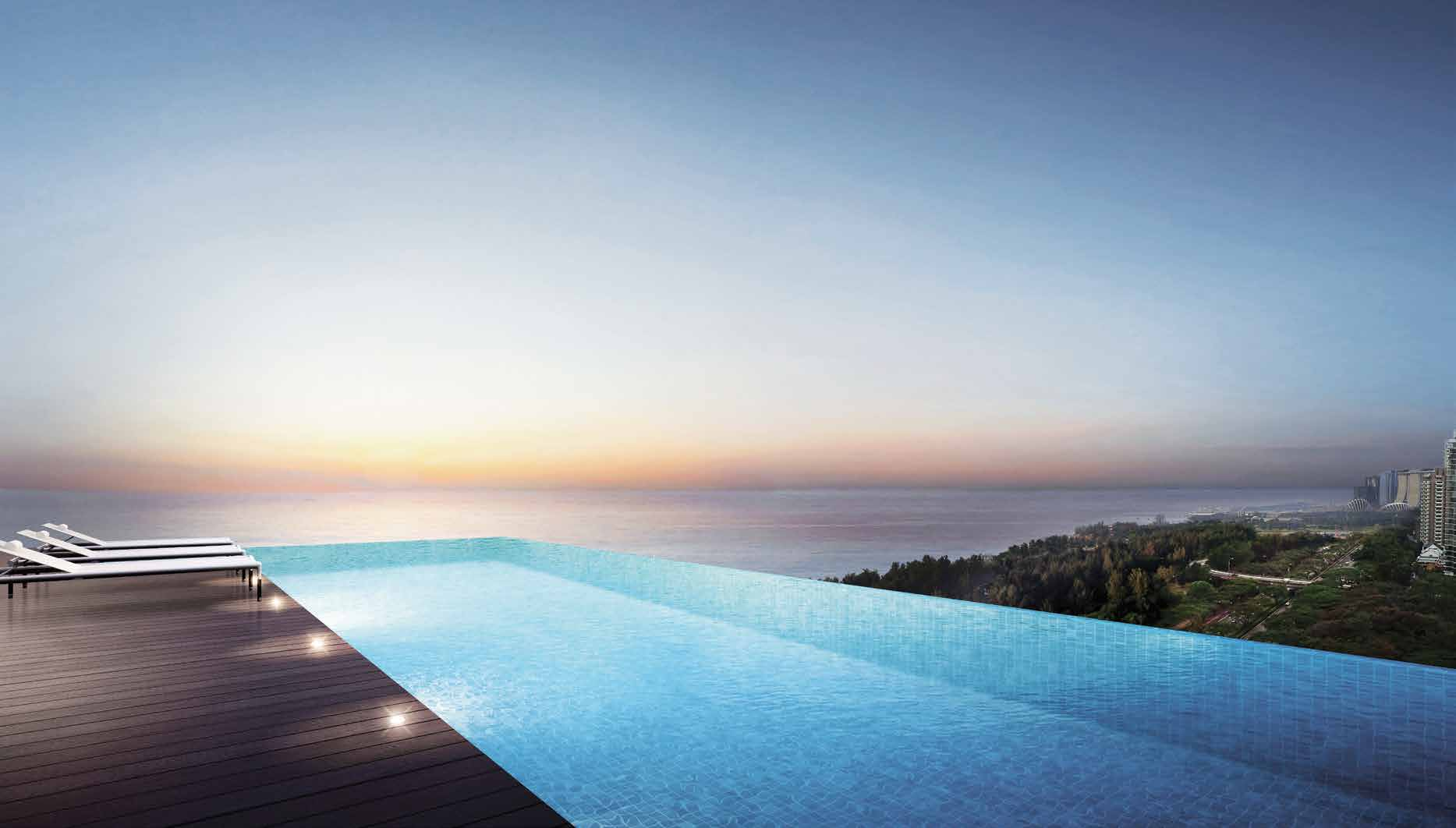 Artist's Impression . The Sky Terrace Offers Panoramic Sea Views