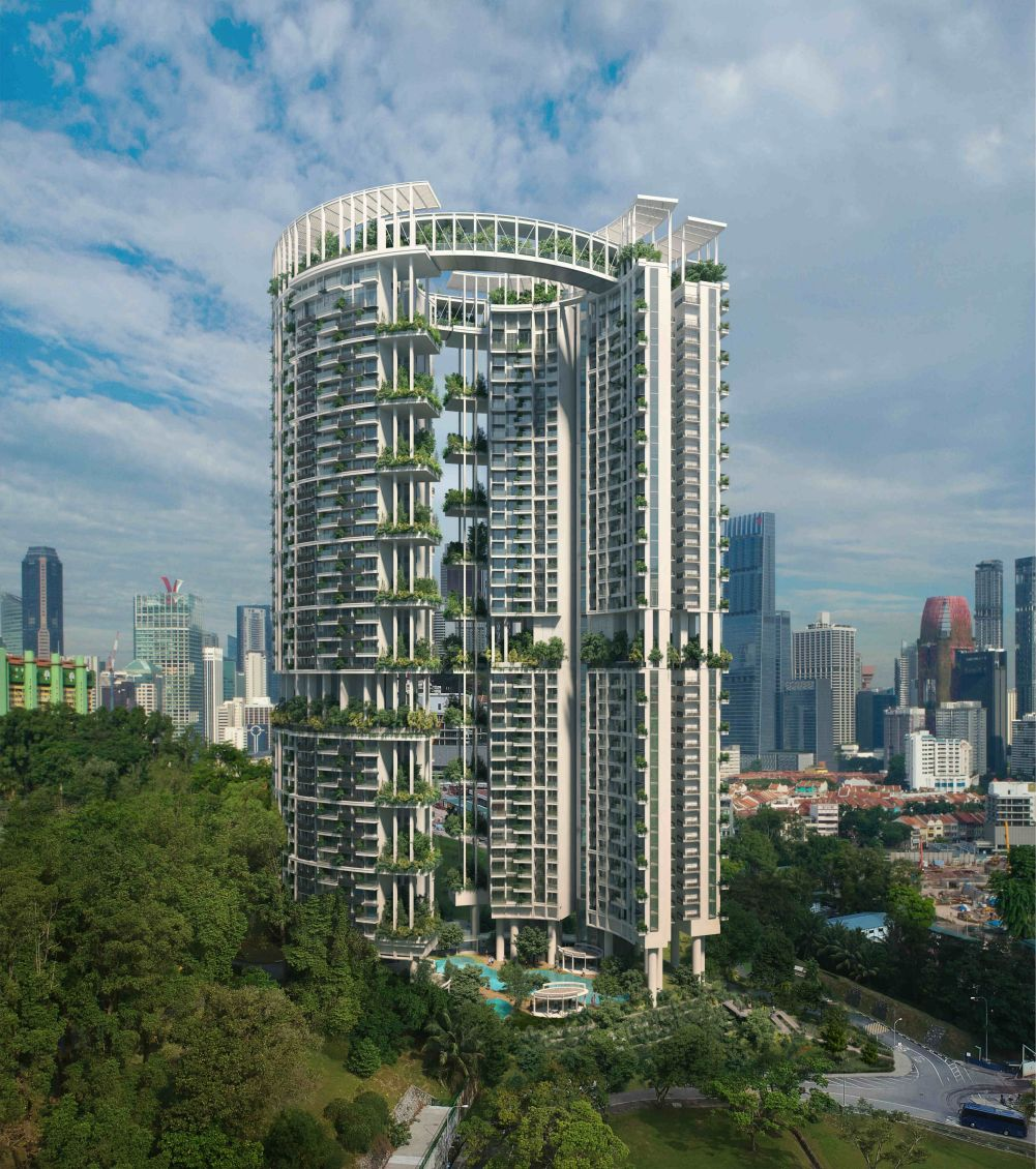 Artist's Impression . One Pearl Bank Condominium Towers . Singapore