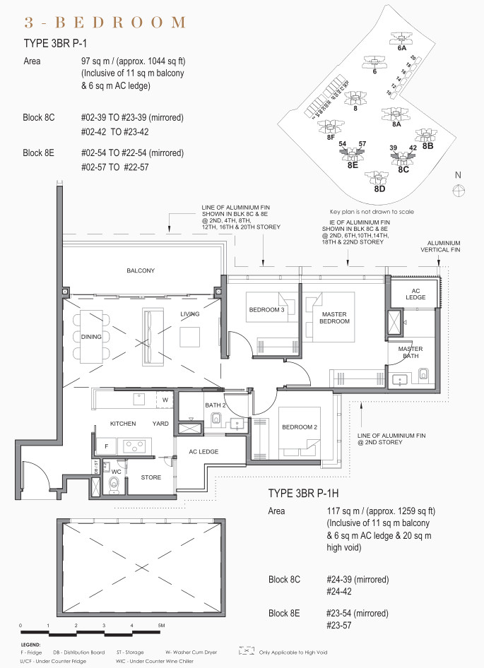Parc Clematis Floor Plan . 3 Bedroom Premium in Contemporary Range