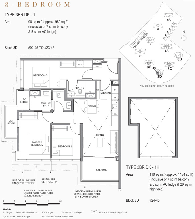 Park Clematis Floor Plans . 3 Bedroom Dual Key in Contemporary Towers