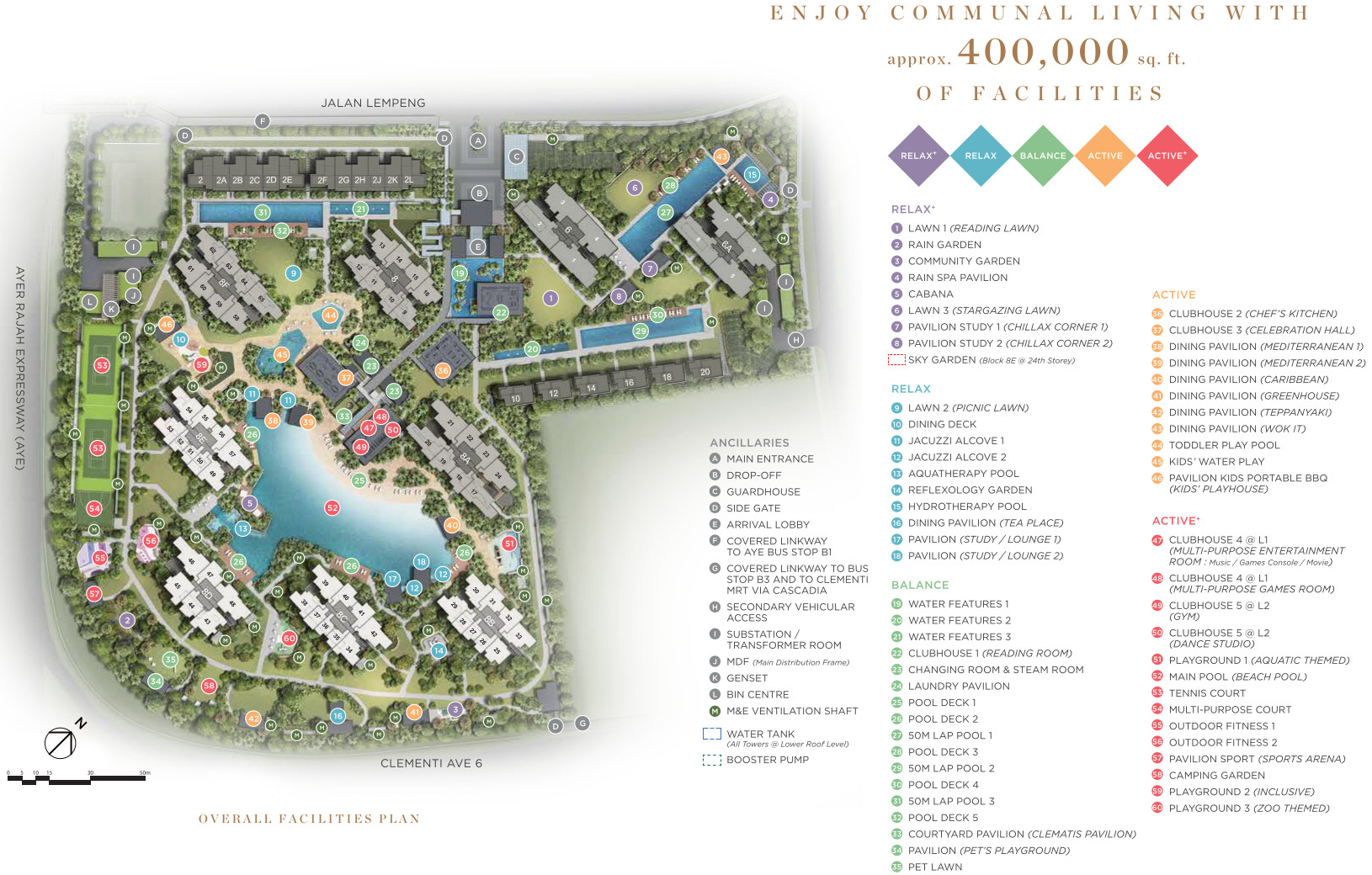 Parc Clematis Site Plan Layout
