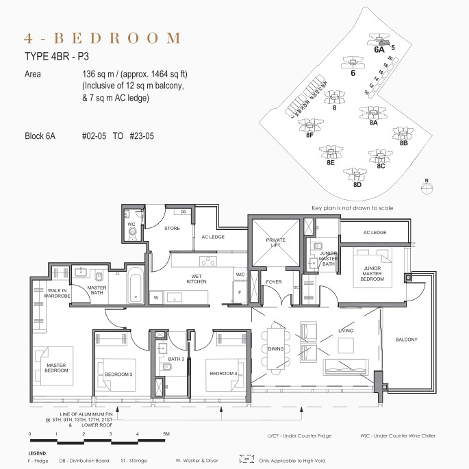 Park Clematis Floor Plan . 4 Bedroom in Signature Towers