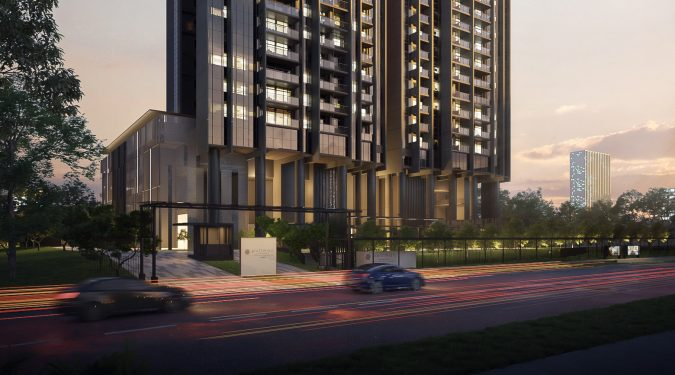 Artist's Impression . Pullman Residences Newton Main Entrance