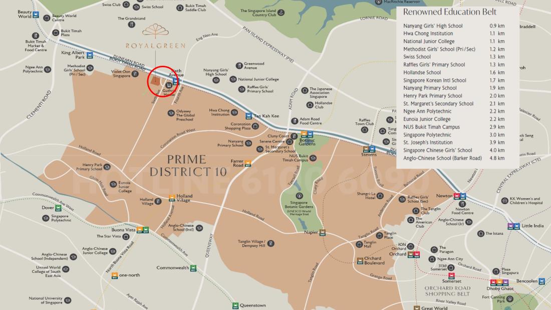 RoyalGreen Location Map . Amenities & Neighbourhood