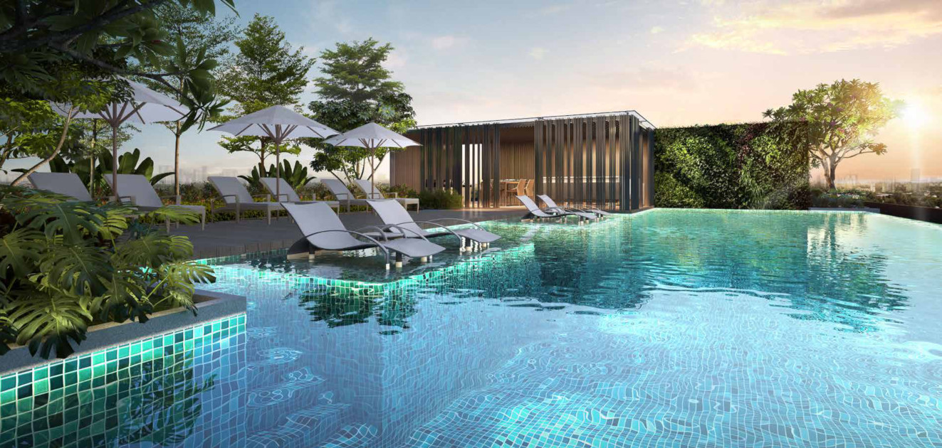Artist Impression . The Sloane Residence Pool