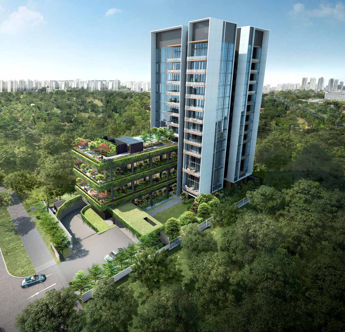 Artist Impression . Sloane Residence Singapore . Aerial View
