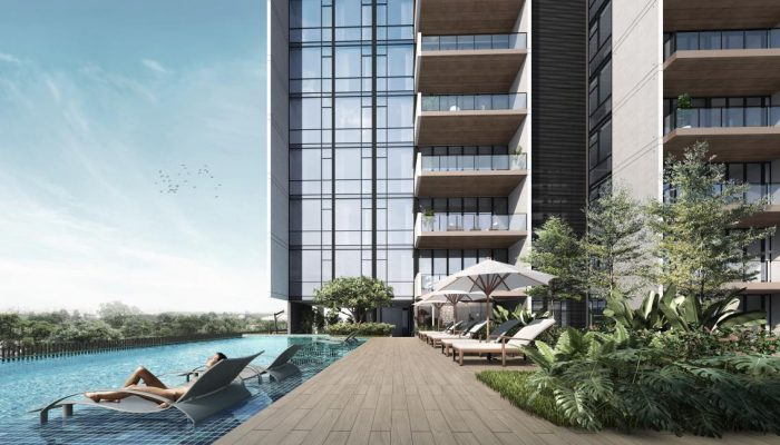 Artist's Impression . Sloane Residences Condo . Pool Deck