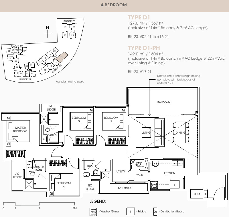 The Antares Condo Floor Plans . 4 Bedroom Type D1