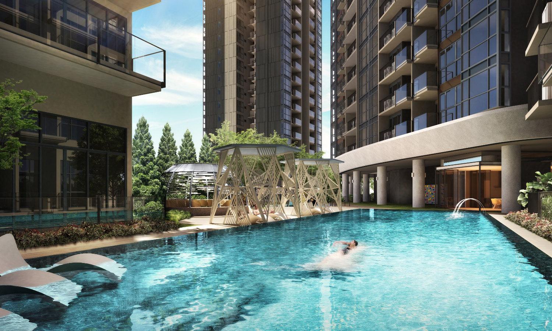 The Antares Singapore . Family Pool