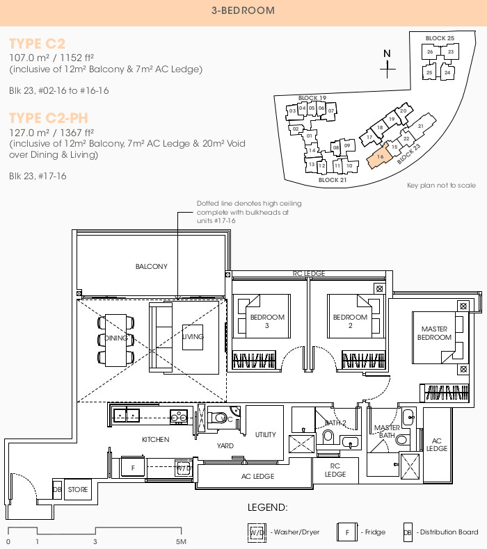 The Antares Floor Plan . 3 Bedroom Type C2