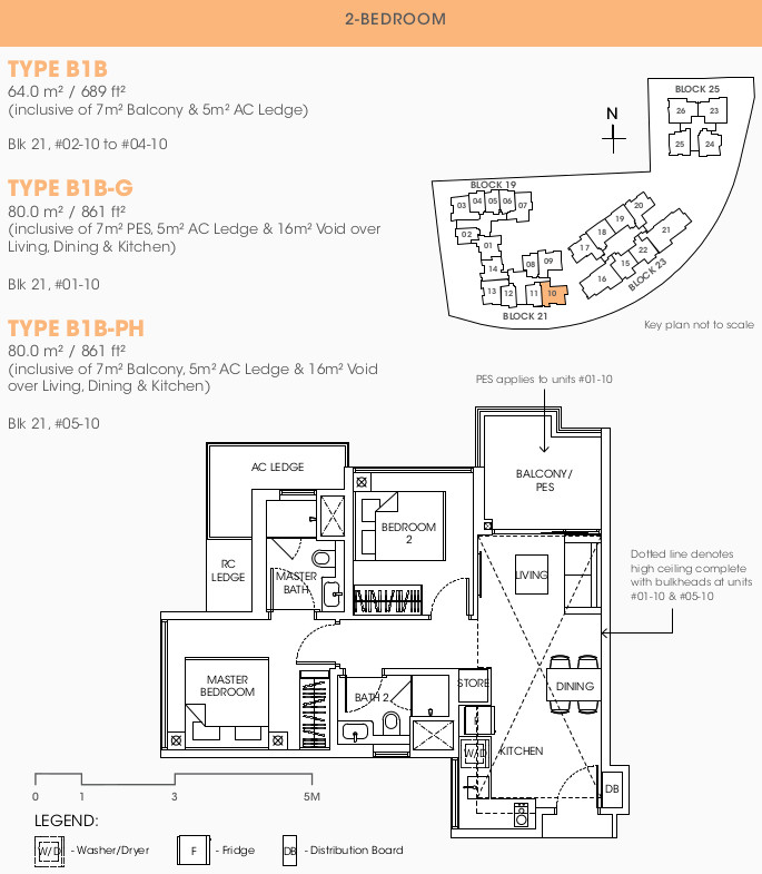 The Antares Floor Plans . 2 Bedroom Type B1