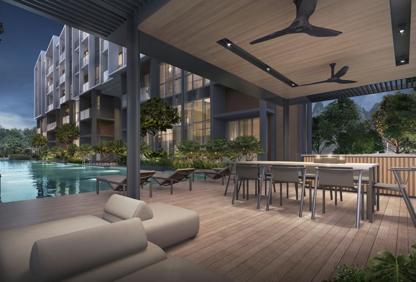 The Essence Condo . Pool Pavilion