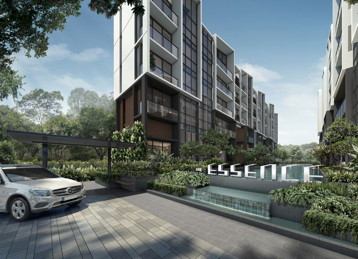 Artist's Impression . The Essence Singapore . Entrance
