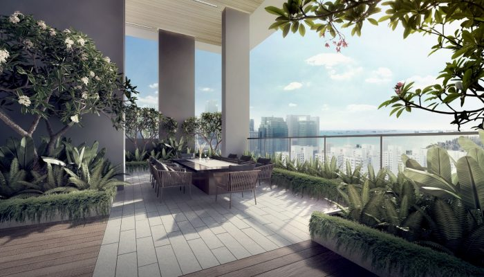 Artist's Impression . The Sky Everton Singapore Terrace View