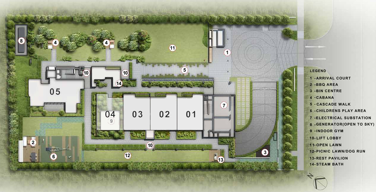 The Sloane Residence Site Plan . Level 1
