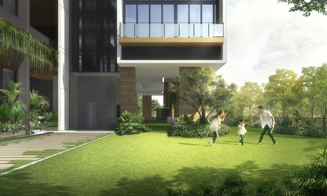 Artist Impression . The Condominium Garden