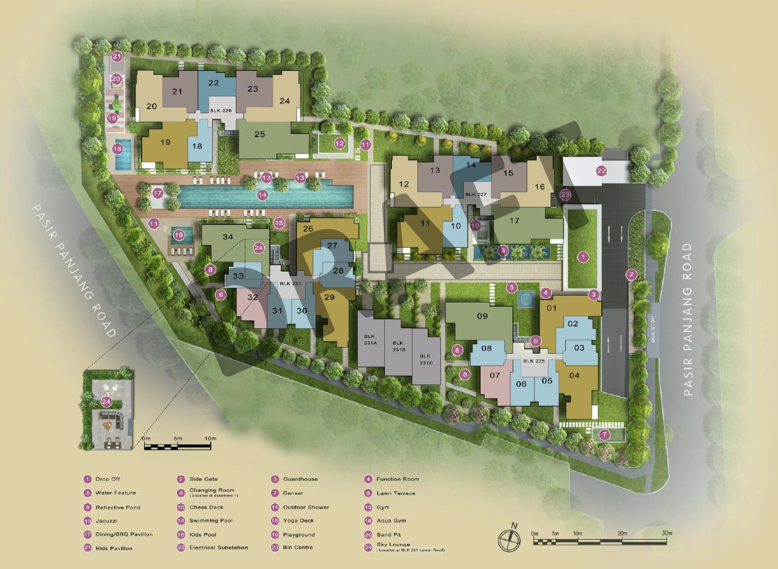 The Verandah Residences Site Plan Layout