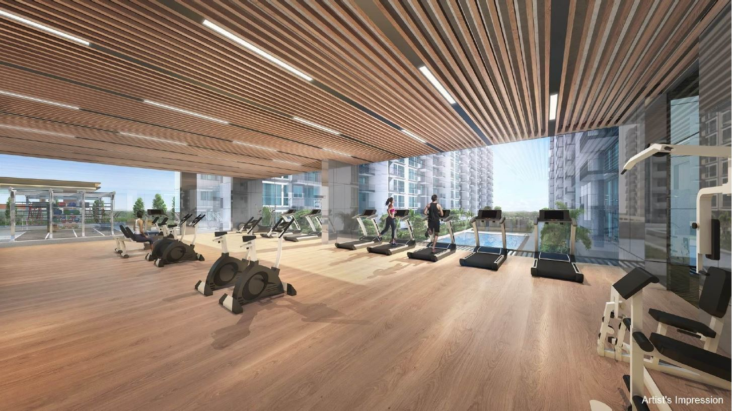 Artist's Impression . Treasure at Tampines Singapore . 24 Hour Gym