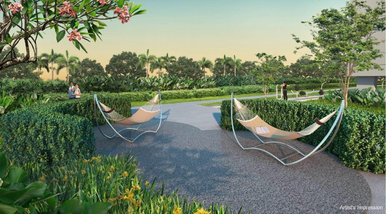 Artist's Impression . Treasure Tampines Floor Plan . Garden