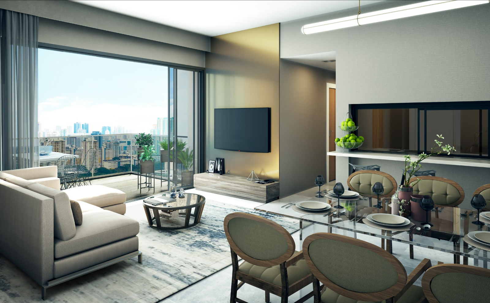 Uptown Floor Plans . Showflat Living Dining