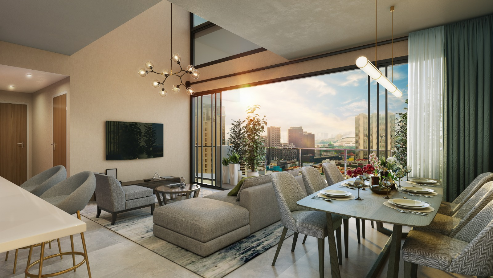 Uptown Showflat Living Dining